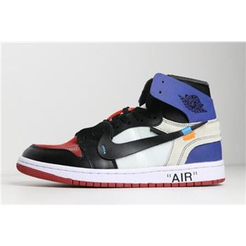 Off-White x Air Jordan 1 Black/Varsity Royal-Varsity Red-White AA3834-104