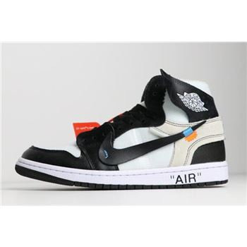 Off-White x Nike Air Jordan 1 Black/White AA3834-102 Free Shipping