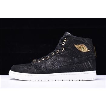 Air Jordan 1 Retro High OG Pinnacle Black/Metallic Gold-White 705075-030