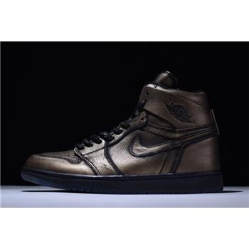 New Air Jordan 1 Retro High OG Wings Metallic Gold/Black AA2887-035