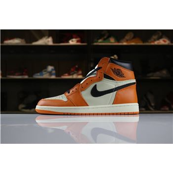 New Air Jordan 1 Retro High OG Shattered Backboard Away Sail/Starfish-Black 555088-113