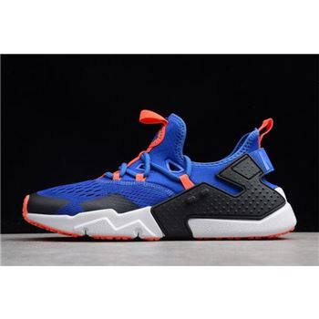 Men's Nike Air Huarache Drift BR Racer Blue/Black-White AO1133-400 For Sale