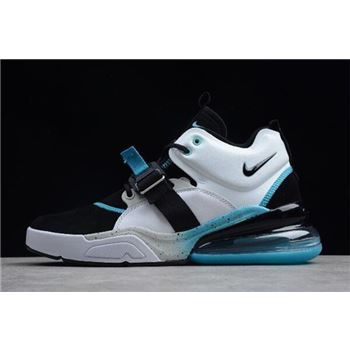Nike Air Force 270 Black/White-Hyper Jade Shoes For Sale