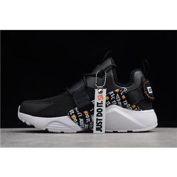 Nike Air Huarache City Low PRM Just Do It Black/White-Total Orange AO3140-001