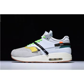 BespokeIND Nike Air Max 1 Custom White Grey Virgil Abloh's Off-White A7293-100