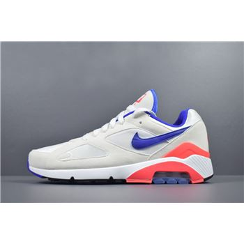 Mens and WMNS Nike Air Max 180 OG Ultramarine White/Ultramarine-Solar Red 615287-100
