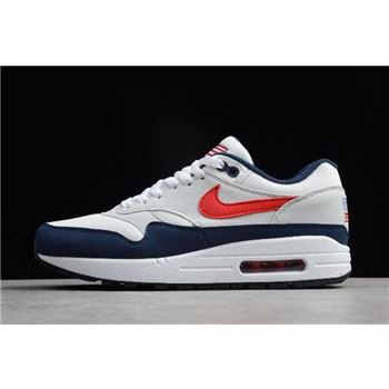 Nike Air Max 1 USA White/Varsity Red-Midnight Navy-Light Zen Grey 604139-162