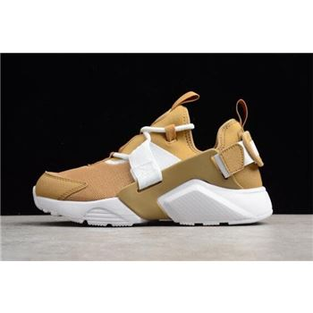 WMNS Nike Air Huarache City Low Elemental Gold/White AH6804-700
