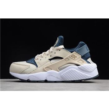 WMNS Nike Air Huarache Run Light Orewood Brown/Armory Navy-White 634835-114
