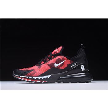 A Bathing APE x Nike Air Max 270 Red Camo Men's Size AH6799-016