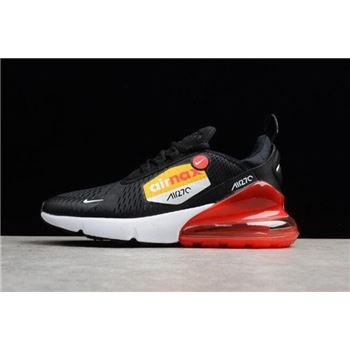 Men's Nike Air Max 270 BIG LOGO Black Yellow Red Running Shoes AH8050-015