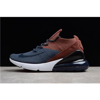 Nike Air Max 270 Flyknit Dark Blue/Brown/Black/White Men's and Women's Size AO1023-004