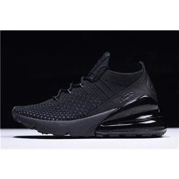 Nike Air Max 270 Flyknit Triple Black AO1023-005 Free Shipping