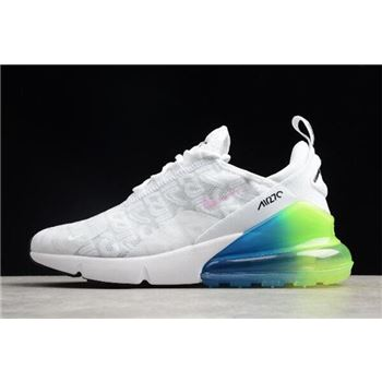 Nike Max 270 White/Explosion Green-Blue-Pink BQ0742-998