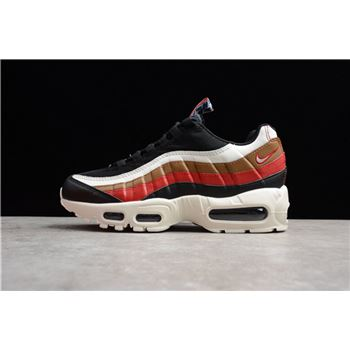 Nike Air Max 95 Pull Tab Black/Sail-Ale Brown-Gym Red AJ4077-002