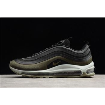 Nike Air Max 97 Ultra '17 Hot Air Velour Black/Dark Hazel-Medium Olive-Light Pumice AH9945-001