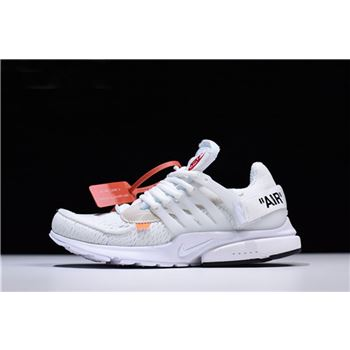 2018 Off-White x Nike Air Presto in White AA3830-100 Free Shipping