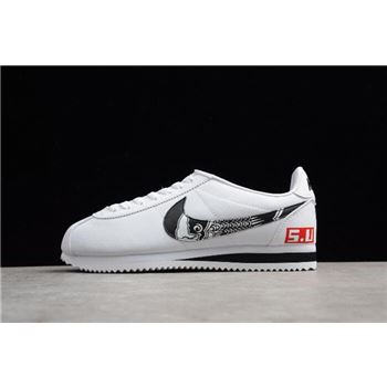 Men's Nike Classic Cortez Leather White/Black 807471-460