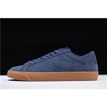 Nike SB Zoom Blazer Low Thunder Blue/Gum Medium Brown 864347-400