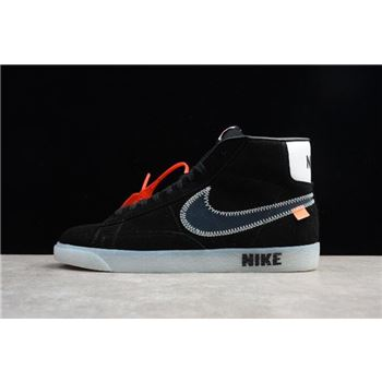 Off-White x Nike Blazer Mid Black Men's and Women's Shoes AA3832-001