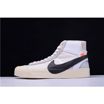 Off-White x Nike Blazer Mid Virgil Abloh The Ten White/Black-Muslin AA3832-100