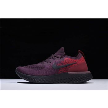 Men's Nike Epic React Flyknit Wine Red/Dark Red-Black AT0054-600
