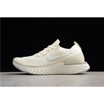 Nike Epic React Flyknit Light Cream Running Shoes AQ0070-201