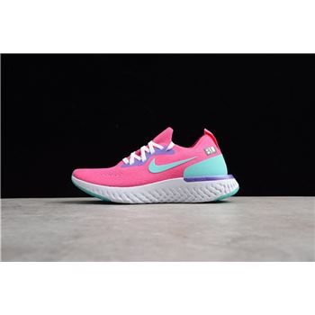 Nike WMNS Epic React Flyknit Laser Pink/Dust Cactus-Purple AQ0070-603