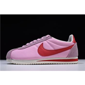 WMNS Nike Classic Cortez Nylon Premium Rose Pink/University Red-White 882258-601
