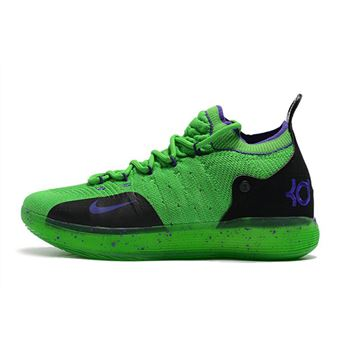Kevin Durant's Nike KD 11 Green/Black-Purple For Sale