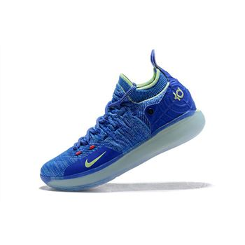 Kevin Durant's Nike KD 11 Paranoid Bright Blue/Volt For Sale