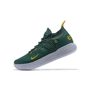 New Nike KD 11 Army Green/White-Metallic Gold For Sale