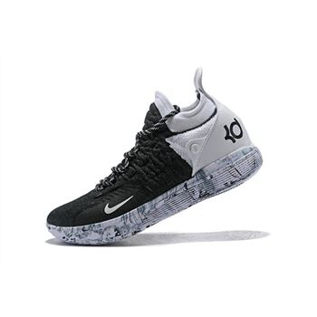 Nike KD 11 BHM Black/White-White Marble Basketball Shoes Free Shipping