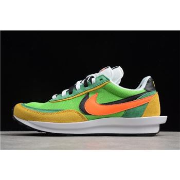 Waffle Daybreak and LDV Sacai x Nike Hybrid Collection Green/Yellow-White-Black-Orange For Sale