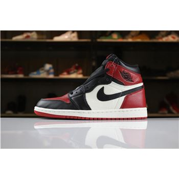 Air Jordan 1 High OG Bred Toe Gym Red/Black-Summit White For Sale