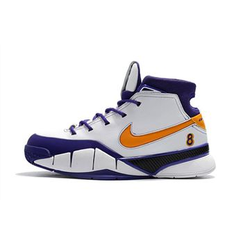 Cheap Nike Kobe 1 Protro Final Seconds White/Del Sol-Varsity Purple AQ2728-101