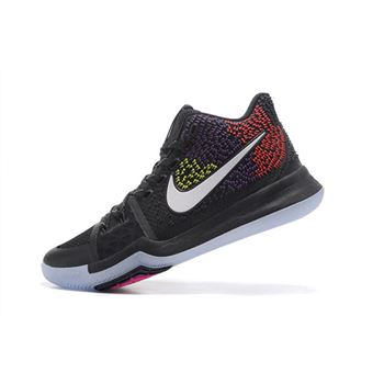 Colorful Nike Kyrie 3 Black/Red/Purple/Yellow Men's Basketball Shoes