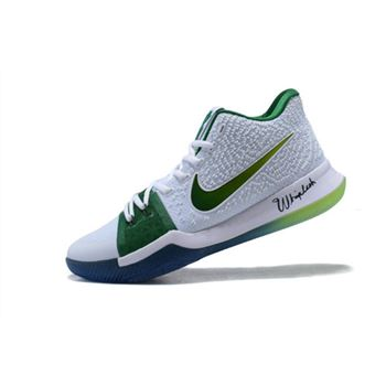 Men's Nike Kyrie 3 Boston Celtics PE Kyrie Irving Basketball Shoes