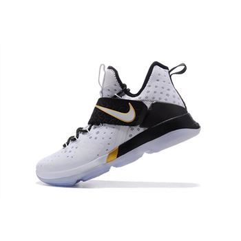 Men's Nike LeBron 14 BHM White/Metallic Gold-Black 860634-100