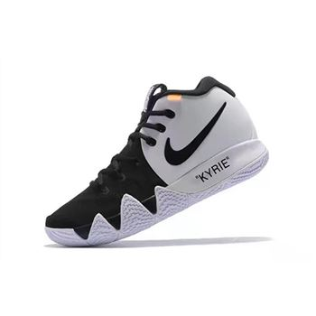 Off-White x Nike Kyrie 4 Black/White Men's Basketball Shoes Free Shipping