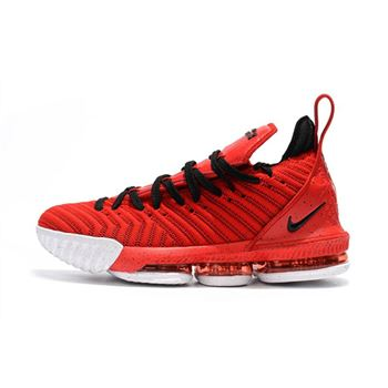 Men's and Women's Nike LeBron 16 University Red/Black-White For Sale