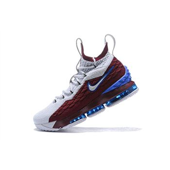 Nike LeBron 15 First Game AZG Cavs White Red Blue For Sale