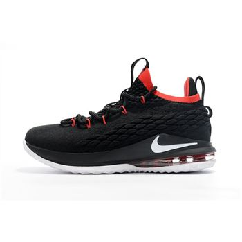 Nike LeBron 15 Low Black White Red Men's Basketball Shoes