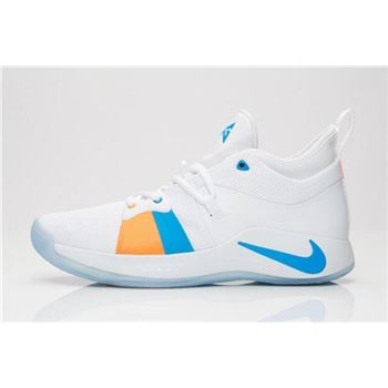 New Nike PG 2 The Bait II White/Photo Blue AJ2039-100