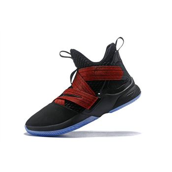 Nike LeBron Soldier 12 Red Straps Black/Red AO2609-003