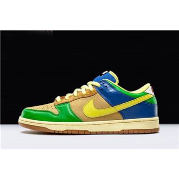 Men's and Women's Nike Dunk Low Premium SB Brooklyn Projects Halo Zitron 313170-771
