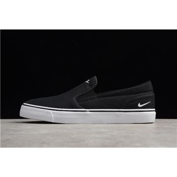 Nike Toki Slip Txt Black/White Men's Size Shoes 724762-011