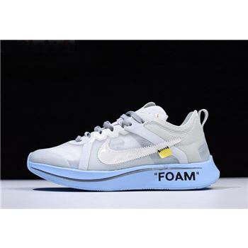 2018 Off-White x Nike Zoom Fly SP White/Light Blue Men's and Women's Size Free Shipping