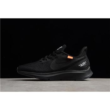 Off-White x Nike Air Zoom Pegasus 35 Black Men's and Women's Size Running Shoes