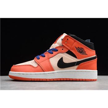 Air Jordan 1 Mid GS Turbo Green/Black-Hyper Pink BQ6931-800